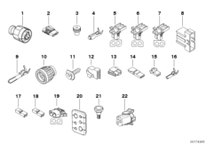 Various plug terminals/cable grommet