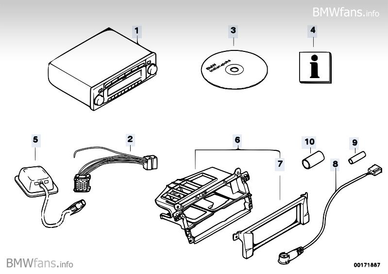 ersatzteile radionavigation bmw 3 39 e46 316ci m43 bmw. Black Bedroom Furniture Sets. Home Design Ideas