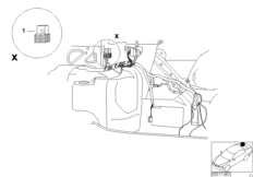 Relay positioning, luggage compartment
