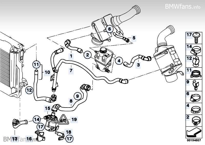 Cooling System Water Hoses Charge Air Bmw X6 E71 X6 50ix