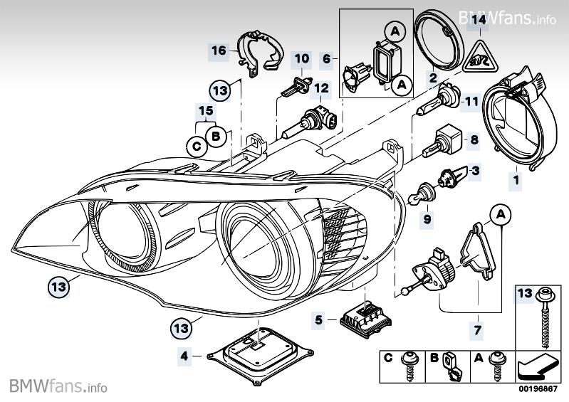 Headlight Parts Bmw X5 E70 X5 3 0d M57n2 Bmw Parts Catalog