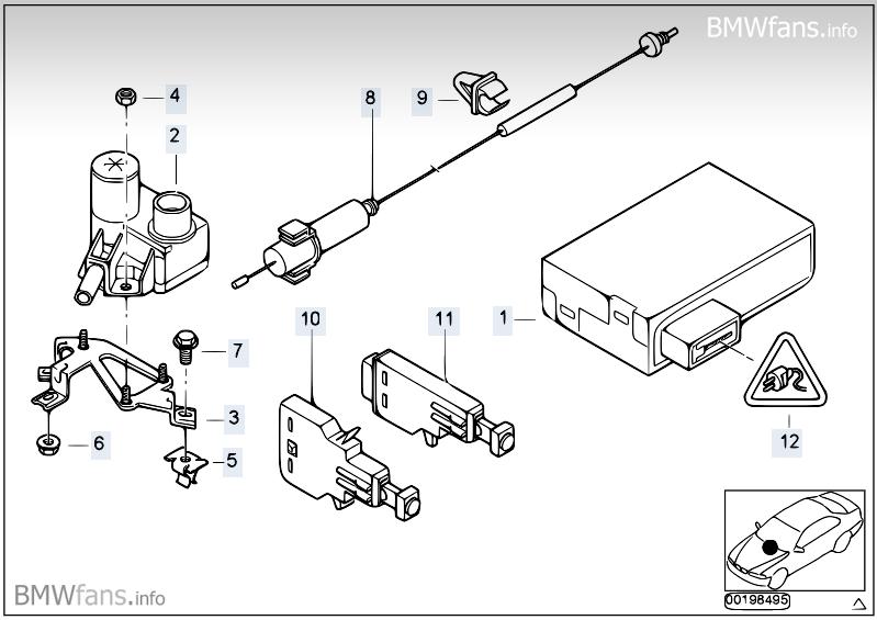 Cruise control BMW 3' E46, 318i (M43) — BMW parts catalog