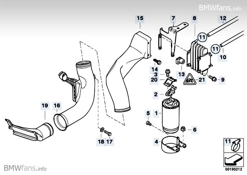 Fuel Filter Fuel Cooling Bmw 5 E39 530d M57 Bmw