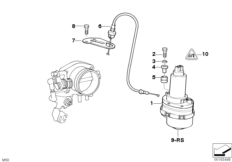Throttle actuator ASC+T