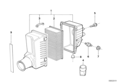 Suction silencer/filter cartridge