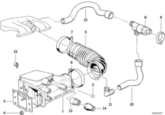 Volume air flow sensor