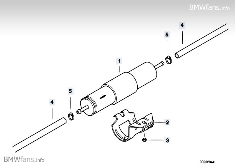 Kraftstofffilter Bmw 3 E36 328i M52 Europa