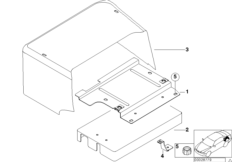 Trunk battery cover