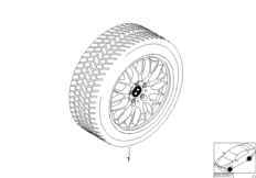 Winter complete wheel cross spoke 42