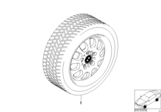 Winter complete wheel ellips. styl. 46