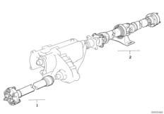 Drive shaft, 4-wheel