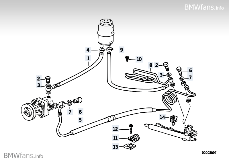 hydro steering oil pipes bmw 3 39 e36 318is m42 bmw parts catalog. Black Bedroom Furniture Sets. Home Design Ideas