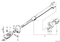 Steer.col.-lower joint assembly