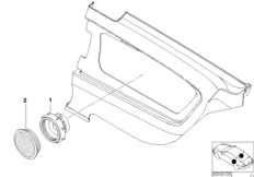 Parts, lat.trim panel rear, HiFi/Top-HiFi