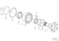 Drive flange suspension/gasket
