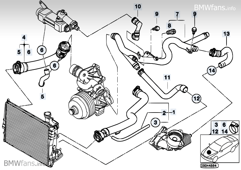 bmw n54 wiring diagram bmw m57 wiring diagram cooling system water hoses bmw 5' e39, 530d (m57) — bmw ... #13