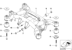 2011 Ford Fusion Suspension Diagram additionally Bmw E34 Fuse Box likewise Rear axle support wheel suspension besides Bmw X5 Parts Diagram moreover 2013 Bmw X3 Fuse Box Diagram. on 2005 bmw x5 rear suspension parts