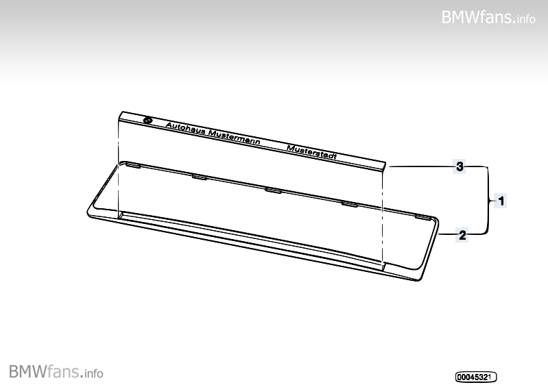 bmw licence plate base bmw accessories catalog. Black Bedroom Furniture Sets. Home Design Ideas