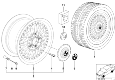 Cross-spoke, composite wheel (STYL.5)