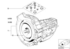 Automatic gearbox 4HP22