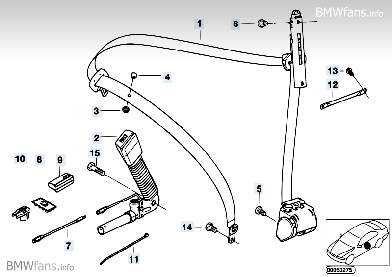 e46 m3 seat belt tensioner