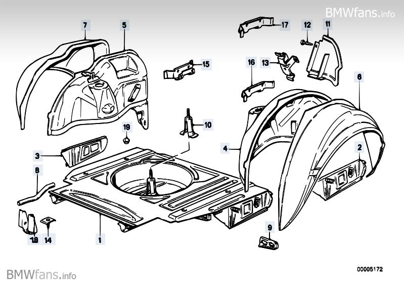 reparaturblech radlauf hinten karosserie e30. Black Bedroom Furniture Sets. Home Design Ideas
