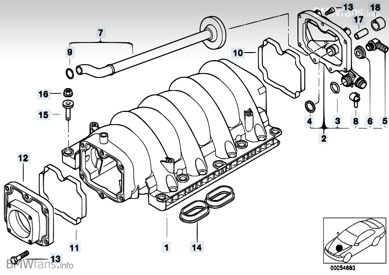 Z8 E52 родстер ALPINA V8 USA L A - Система впуска.