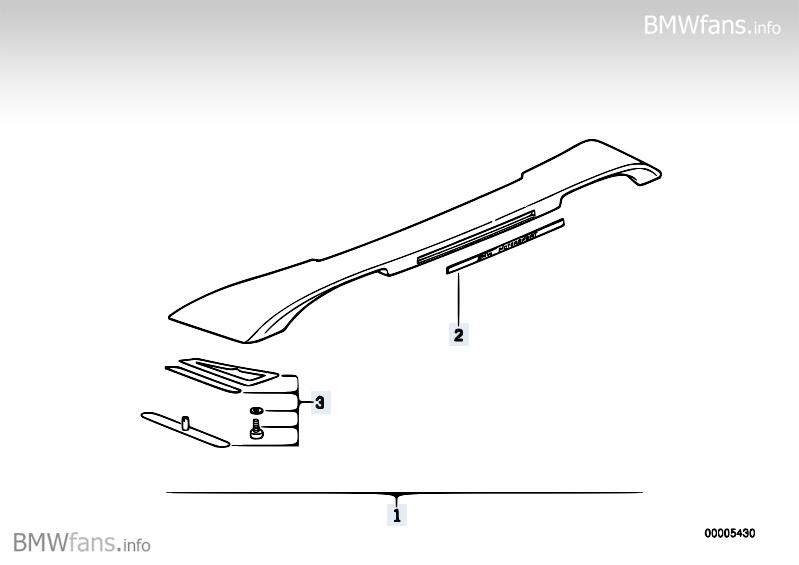 woher e36 heckspoiler mit m emblem in der mitte bmw talk forum. Black Bedroom Furniture Sets. Home Design Ideas