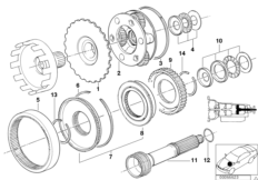 Zf 4HP22/24 planet wheel sets
