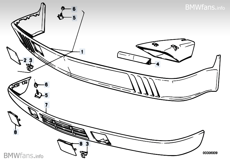 Front Spoiler Bmw 5 E28 524td M21 Bmw Parts Catalog