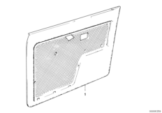 Door trim panel, front
