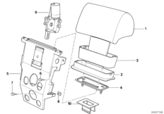 Electrical headrest rear