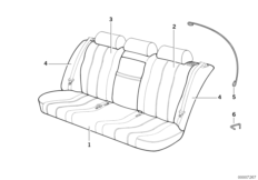Through-loading facility-seat cover