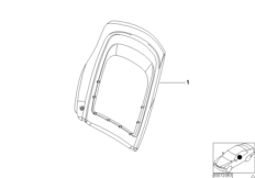 Indiv.rear panel, standard seat, leather