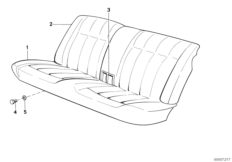 Rear seat parts