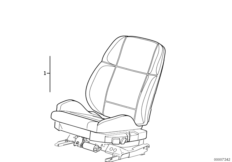 BMW Sport seat, electrically adjustable