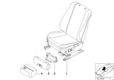 Electrically adjustable front seat