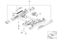 Comfort seat rail single parts
