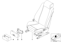 Contour seat, electrically adjustable