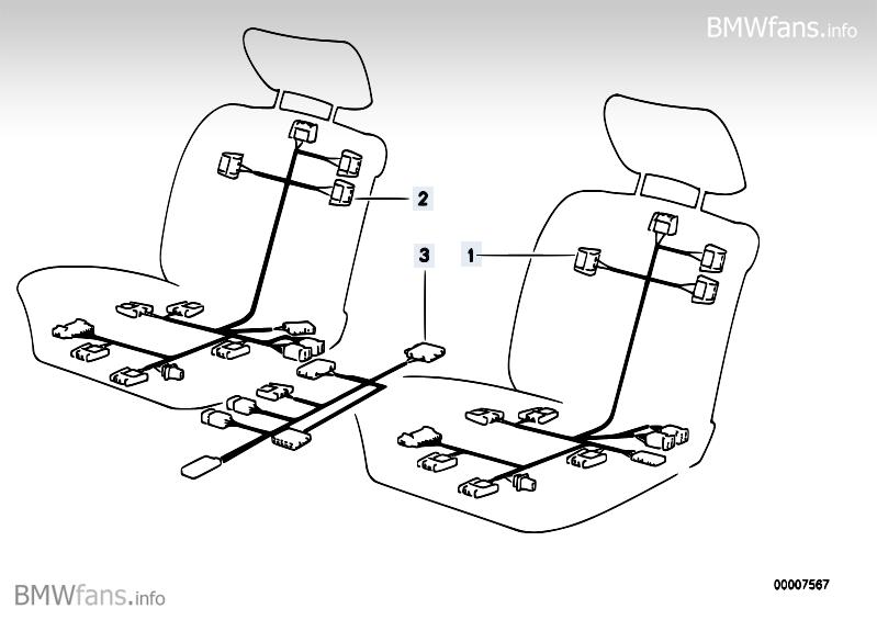 wiring electr  seat adjustment front bmw 5 u0026 39  e34  535i  m30