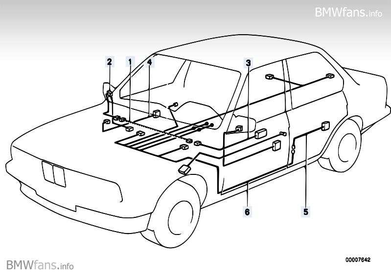 E30 Door Wiring Diagram