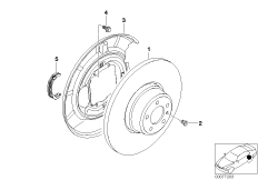 Rear wheel brake-Brake disc