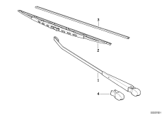 Wiper arm/wiper blade