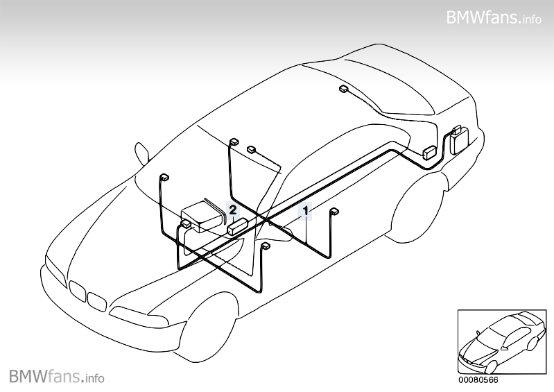 Audio wiring harness BMW 3 E46 316Ci M43 BMW parts catalog