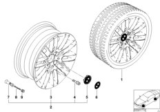 BMW LA wheel, parallel spoke 82
