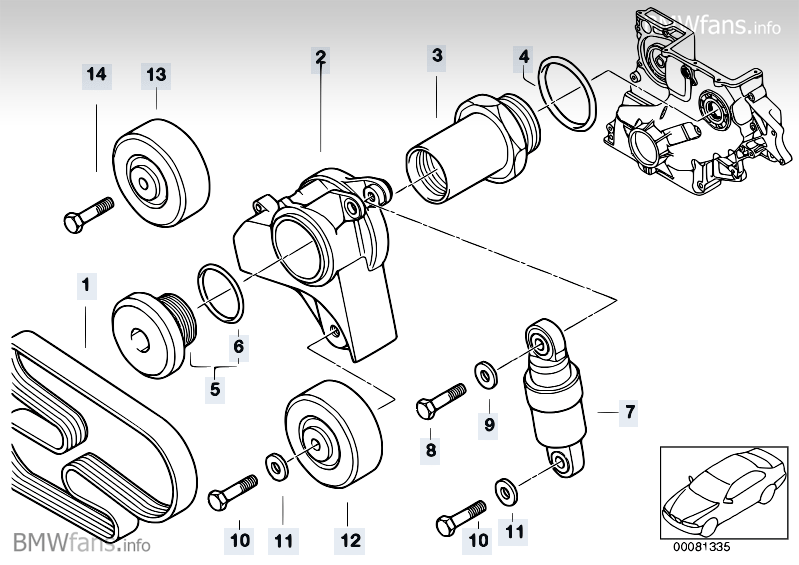 [BMW 320 d E46] Problème de courroie d'accessoires ODEzMzVfcA==