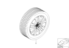 Winter complete wheel double spoke 79
