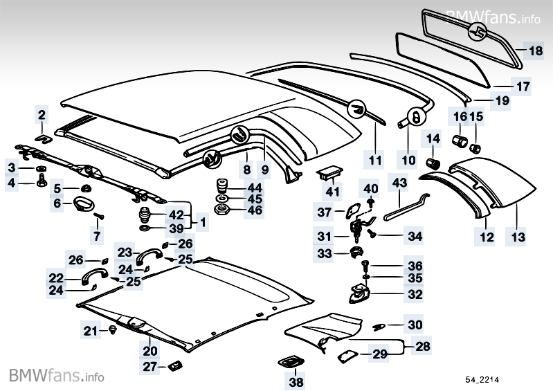 Hardtop Parts Bmw 3 E36 M3 3 2 S52 Usa