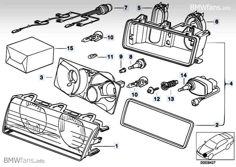 lohnt E36 Scheinwerfer Gehäuse-Reparatur [ verschiedene Preise ...