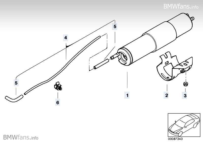 fuel filter  pressue regulator bmw 3 u0026 39  e46  318i  n42   u2014 bmw parts catalog